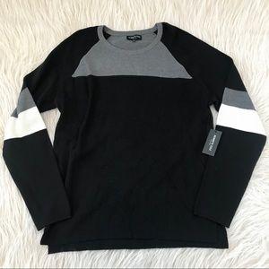 Kenneth Cole men wool blend sweater colorblock xl